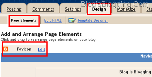 Blogger Adds Favicon Widget In Page elements