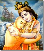[Krishna hugging Lord Chaitanya]