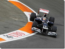 Maldonado nelle prove libere del gran premio d'Europa 2012