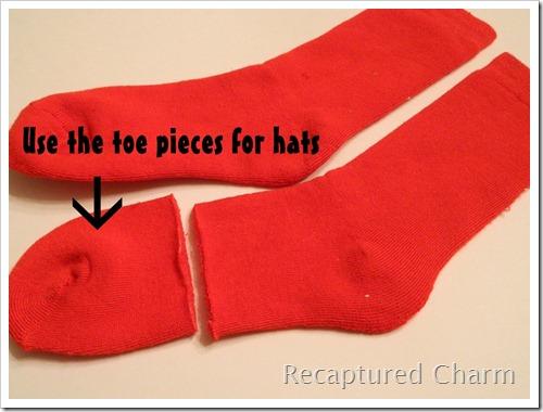 Sock Snoman Sock Santa 012a