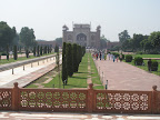 View of the entrance from the Taj