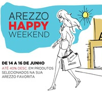 arezzo liquidacao happy weekend