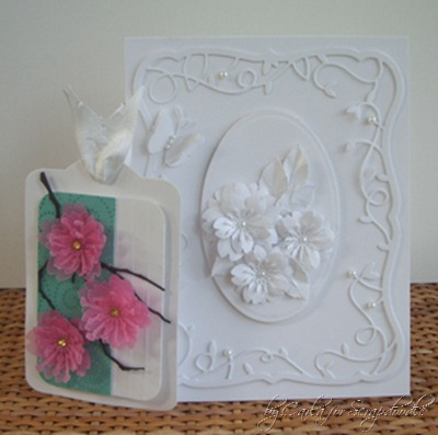 White on White Card, Cherry Blossom Tag, Memory Box Dies, Flower Punches, Scrapadoodle, Carla's Scraps (4) copy
