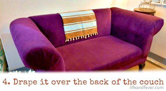 doormat over couch back