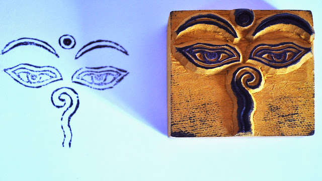 Wooden Block Buddha Eye Stamp
