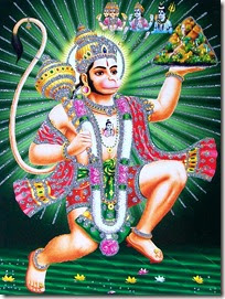 [Hanuman lifting mountain]