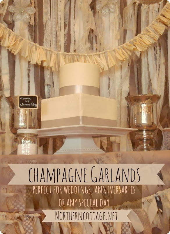 Champagne Garlands - perfect for weddings or any other special day  {Northern Cottage}