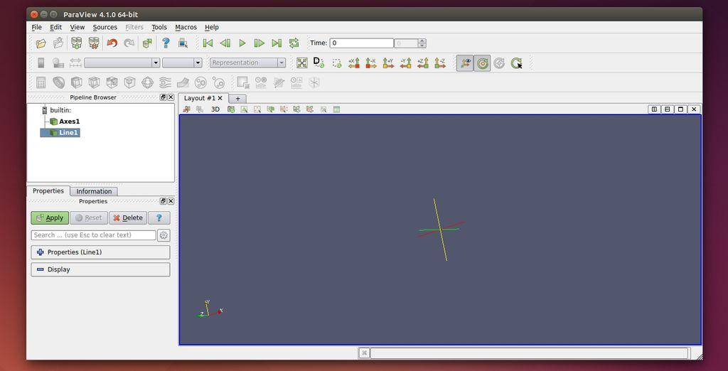 Paraview in Ubuntu Linux