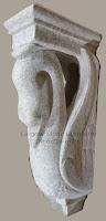 Swan Corbel, 8x4-1/2xH18, Pearl White Granite