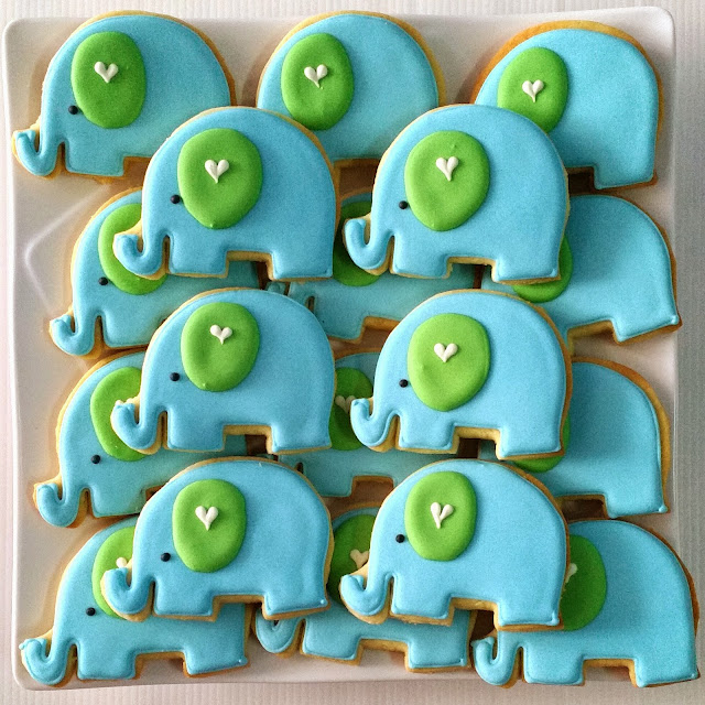 elephant shaped cookies