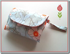 white orange flower nappy wallet 2