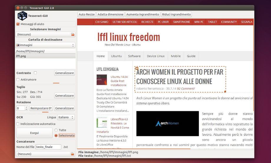 Tesseract-GUI in Ubuntu