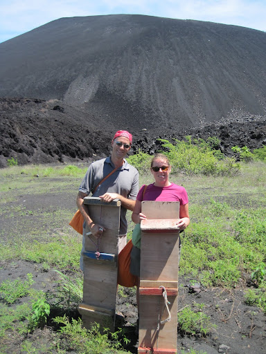 At the base of Cerro Negro, preparing to climb to the top
