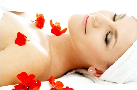 red flower petals spa #2