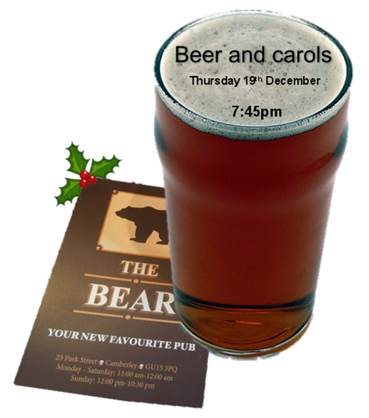 Beer And Carols At Bear Camberley