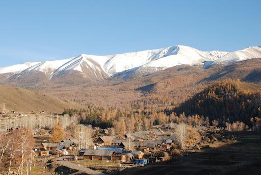 Xinjiang, Baihaba - Village & Vallée