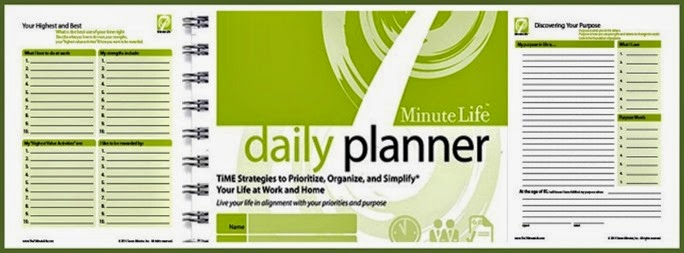 7 Minute Life daily planner samples and cover