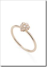 Anel Flor de ouro rosé 18K com diamantes