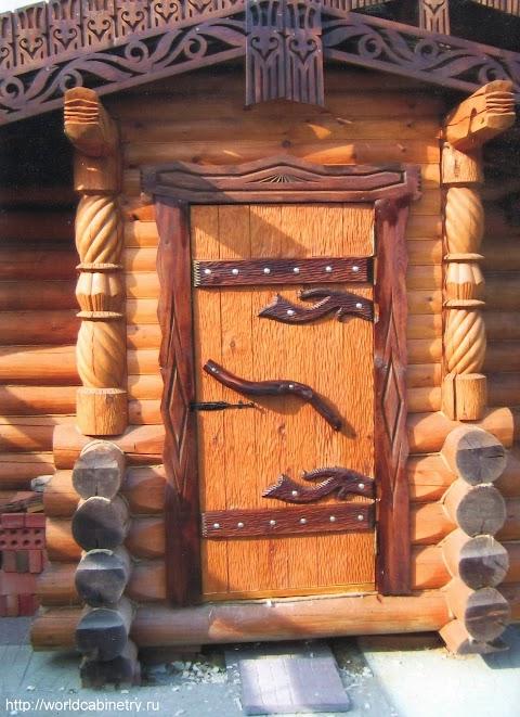 рубленая деревянная баня