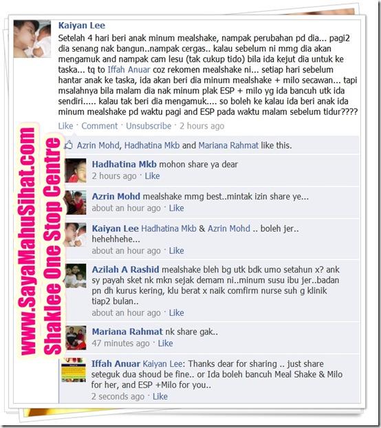 Testimonial_Meal Shake_Ida_Kaiyan Lee_Anak_Semakin_Cergas