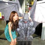 shizuka and the devil in Odaiba, Tokyo, Japan
