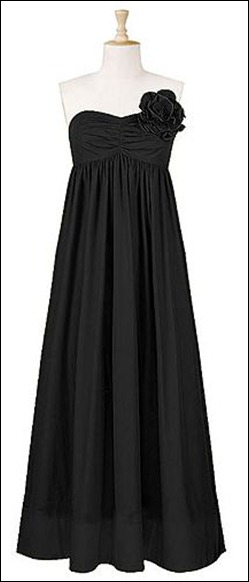 Strapless Rosette Pin Maxi Dress