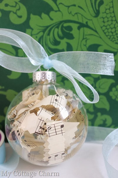 sheet music ornaments