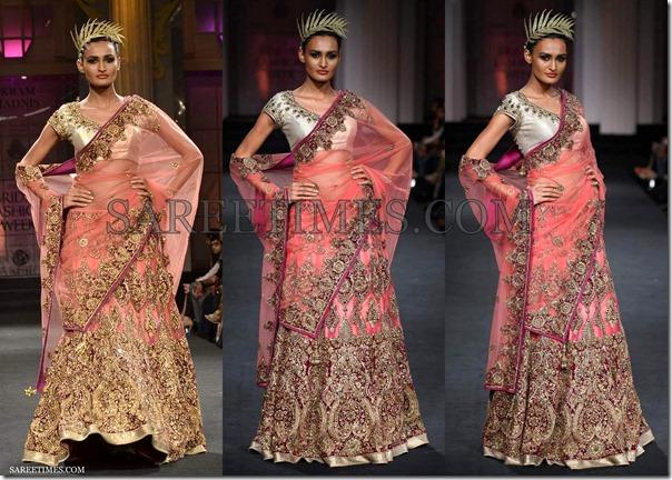 Vikram_Phadnis_Pink_Bridal_Saree