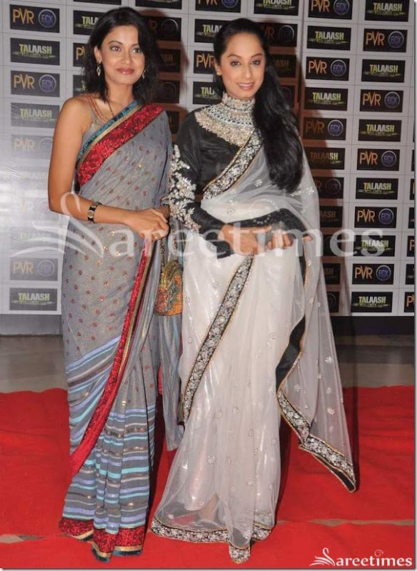 Grey_and_White_Sarees