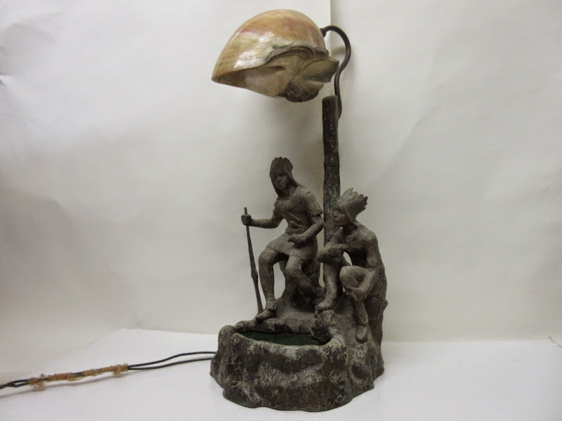Antique Native Table Lamp