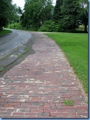 3655 Ohio - Lincoln Highway (County Road 1688) - brick section of the 1913-1928 Lincoln Highway