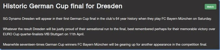 Historic German Cup final
