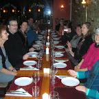 repas entre graveurs après le vernissage à Frédéricia