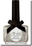 Ciate Silver Shimmer Fit for a Queen Nail Polish