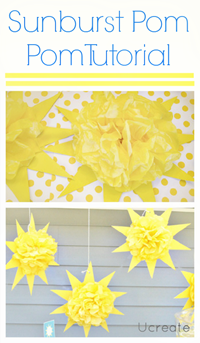 Sunburst Pom Pom Tutorial