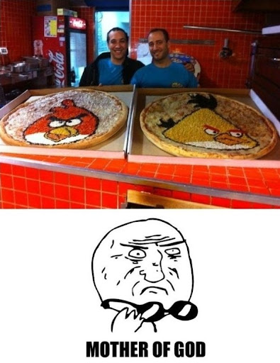 Awesome Angry Bird Pizzas