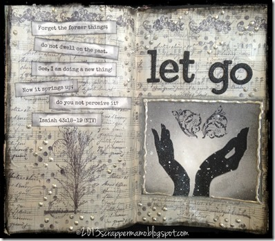 let go art journal w border