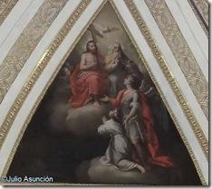 San Miguel presentando un alma a la Trinidad - Monasterio de San Miguel - Líria
