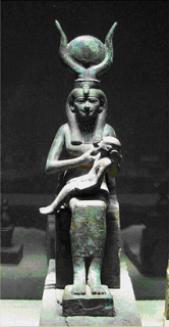 Isis e Horus. Museu imhotep - Priscila e Maxwell Palheta