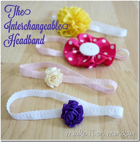 The Interchangeable Headband at Made it on Monday