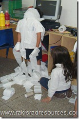 Making Kids into Mummies for our Ancient Egypt Study