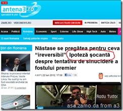 Nastase se pregatea pentru ceva 'ireversibil': IPOTEZA SOCANTA in tentativa de sinucidere a fostului premier