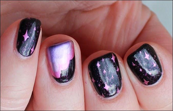 Nails Craze Fantasy Sky Pegasus Nail Art Pink Clouds 3