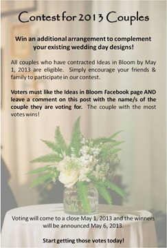 Win Wedding Flowers!