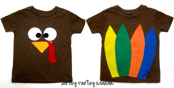turkey shirt by artsy fartsy mama
