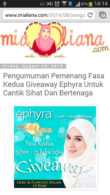 Menang Giveaway Epyhra Fasa ke-2
