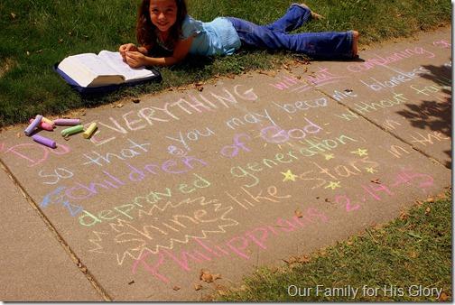 chalk verses