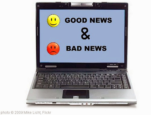 'Good News and Bad News' photo (c) 2009, Mike Licht - license: https://creativecommons.org/licenses/by/2.0/