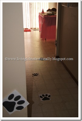 footprints throughout the house