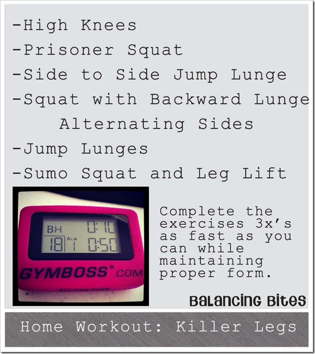 Home Workout Killer Legs